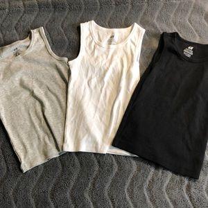 Set of 3- boys cotton tanks